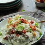Creamy Goat Cheese Horseradish Mashed Potatoes