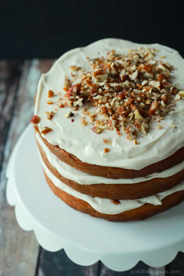 Healthier Hummingbird Cake With Cream Cheese Frosting