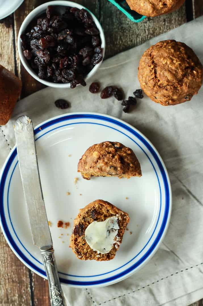 Moist Oat Carrot Cake Muffins with a secret ingredient, you need to try these! Any excuse to have cake in the morning!   joyfulhealthyeats.com #recipes #breakfast