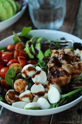 Avocado Caprese Chicken Salad with Balsamic Vinaigrette-6