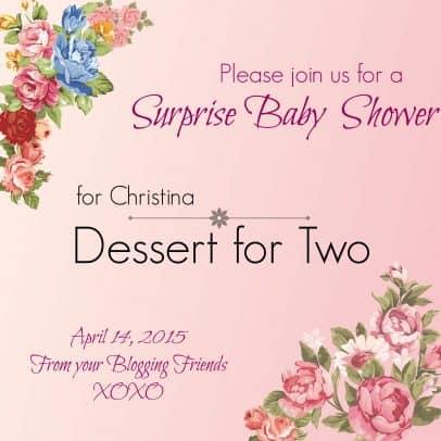 Baby Shower Badge - Dessert for Two