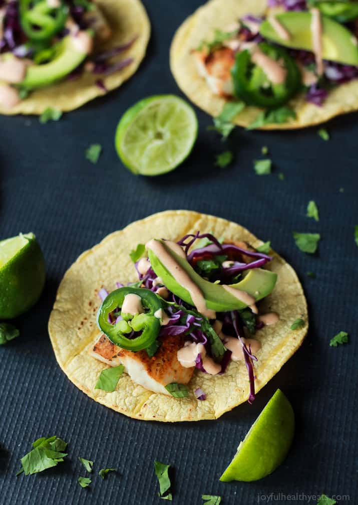 Grilled Mahi Mahi Fish Tacos with Chipotle Lime Crema ...