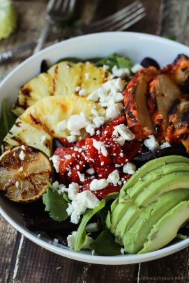Image of a Harissa Lime Grilled Chicken Salad