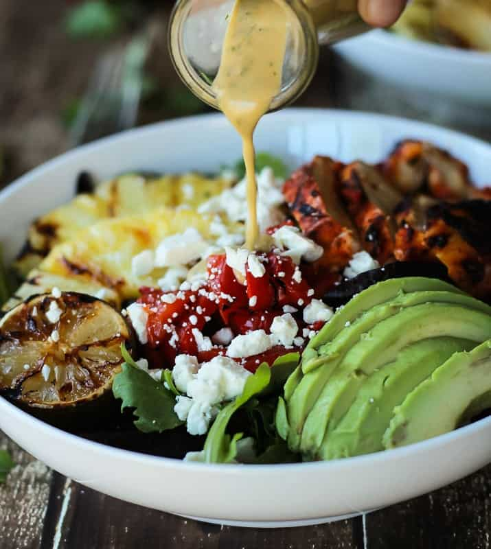 Harissa Lime Grilled Chicken Salad Recipe + Cilantro Lime