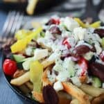 Image of Skinny Greek Loaded French Fry Nachos