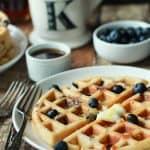 Whole Wheat Lemon Blueberry Waffles-3