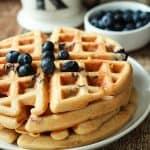 Image of Whole Wheat Lemon Blueberry Waffles