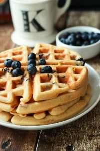 Image of Whole Wheat Lemon Blueberry Waffles