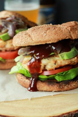 BBQ Chicken Burgers with Caramelized Onions-4