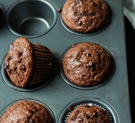 No Sugar, crazy moist, loads of chocolate flavor with great banana taste. These Skinny Double Chocolate Banana Muffins are the muffins of your dreams! | joyfulhealthyeats.com #recipes Easy Healthy RecipesRefined Sugar free, crazy moist, loads of chocolate flavor with great banana taste. These Skinny Double Chocolate Banana Muffins are the muffins of your dreams! | joyfulhealthyeats.com #recipes