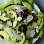 Image of a Fresh Avocado Butter Salad with Lemon Vinaigrette