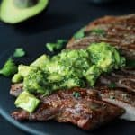 Grilled Flank Steak with Avocado Chimichurri-2