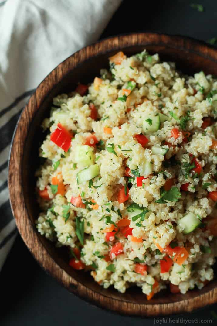 Quinoa Tabbouleh Salad an easy salad recipe that's done in 20 minutes ...