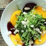 Roasted Beet Arugula Salad with Goat Cheese