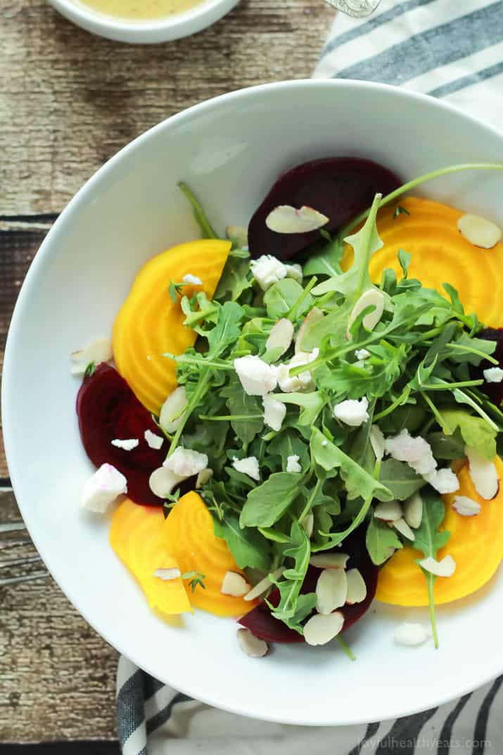 Roasted Beet Arugula Salad with Goat Cheese | Easy Dinner Recipes ...