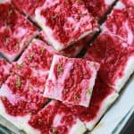 Skinny Raspberry Mojito Cheesecake Bars-12