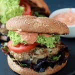Southwestern Turkey Burgers with Guacamole and Spicy Aioli