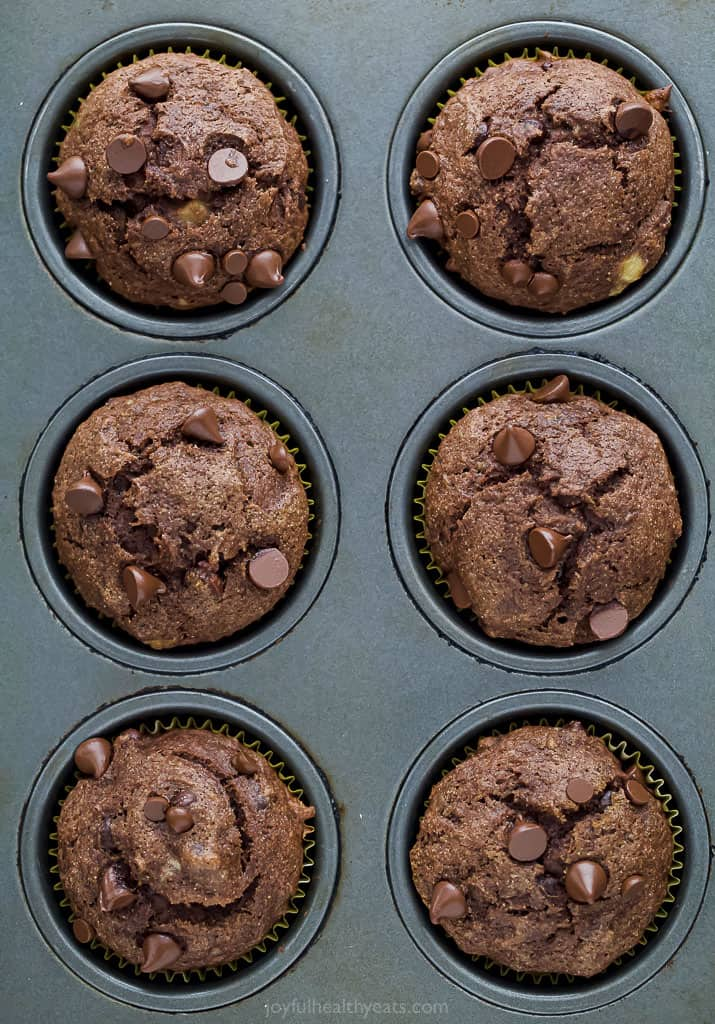 Skinny Double Chocolate Banana Muffins Healthy Banana Muffin Recipe