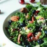 Cherry Summer Kale Salad with Balsamic Vinaigrette-3