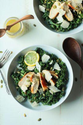 Kale Chicken Caesar Salad-4