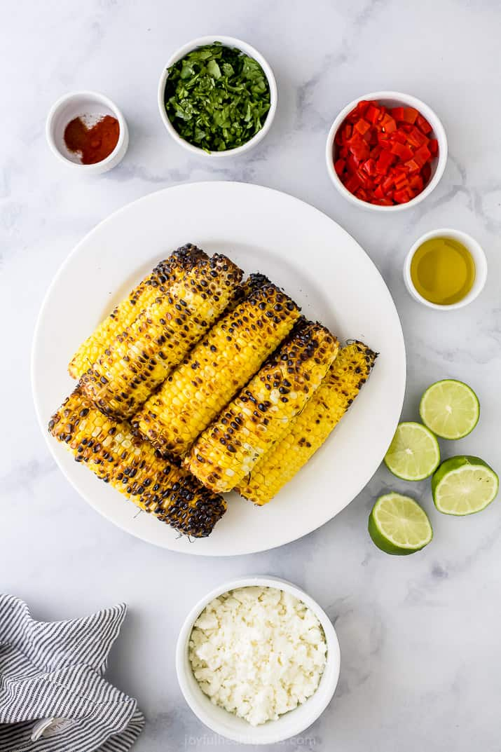 ingredient for chili lime corn salad