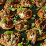 BBQ Pulled Pork Sweet Potato Bites