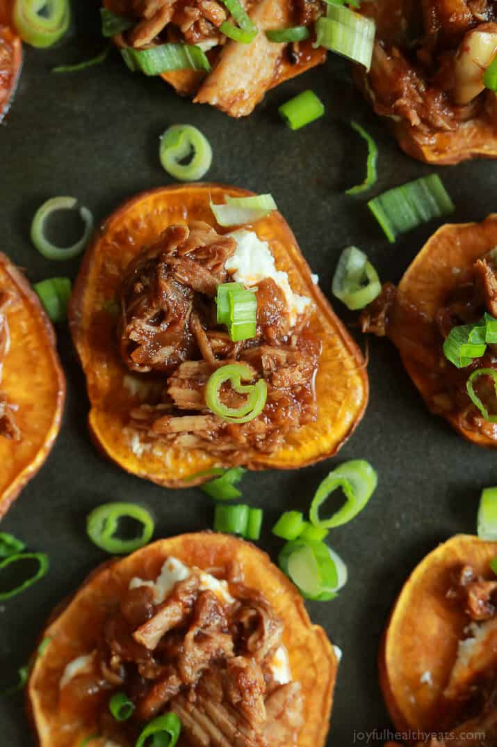 Bbq Pulled Pork Sweet Potato Bites Easy Appetizer Recipe