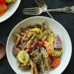 Basil Pesto Pasta with Roasted Vegetables