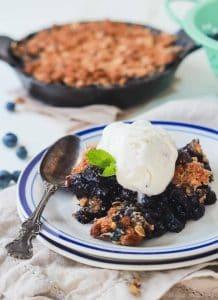 Warm Ginger Blueberry Crisp Recipe | Healthy Desserts