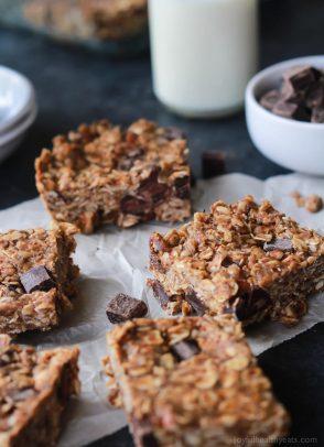 No Bake Peanut Butter Chocolate Bars-1