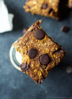 Chocolate Chip Pumpkin Bars Recipe-6