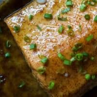 Dijon Maple Glazed Salmon is one of my favorite quick healthy dinner recipes, full of tangy sweet flavor from only 3 ingredients with a whooping 218 calories per serving! | joyfulhealthyeats.com #glutenfree #recipes Quick Easy Dinner Ideas