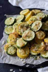 Image of Crispy Parmesan Garlic Zucchini Chips