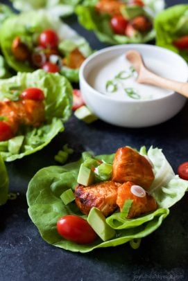 Grilled Buffalo Chicken Lettuce Wraps-4