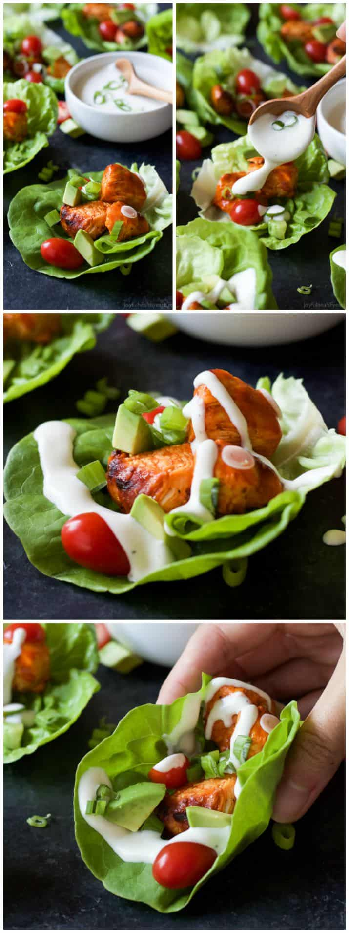 Grilled Buffalo Chicken Lettuce Wraps | Appetizer | Game day Food | Grilling Recipes