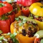 Image of Southwestern Turkey Quinoa Stuffed Peppers