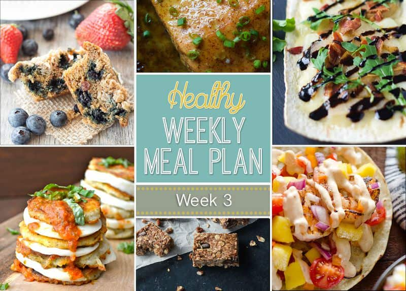 Our Healthy Meal Plan will help you navigate through the next week of meals in an easy and healthy way that your family will enjoy! | joyfulhealthyeats.com #recipes