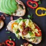 Breakfast Bruschetta on Avocado Toast-4