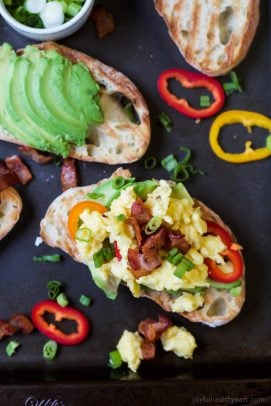 Breakfast Bruschetta on Avocado Toast-4