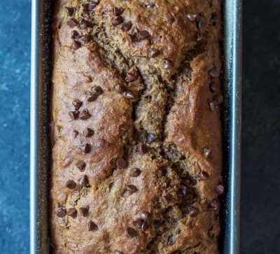 Who doesn't like Banana Bread? What about Double Chocolate Banana Bread? This recipe is incredibly moist, filled with chocolate flavor and only 196 calories a slice. Make it! | joyfulhealthyeats.com #recipes Easy Healthy Recipes