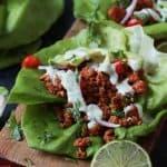 turkey tacos with cilantro lime crema