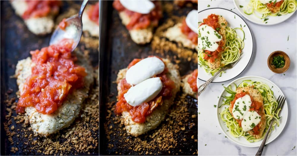 pictures of how to make chicken parmesan in the oven