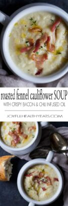 Roasted Cauliflower Bacon Soup Recipe