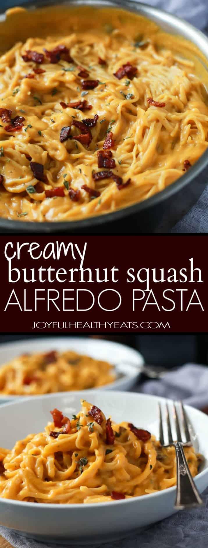Butternut Squash and Spaghetti Alfredo