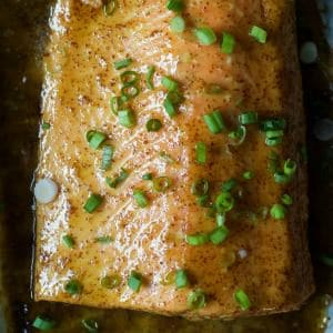 Dijon Maple Glazed Salmon-feature