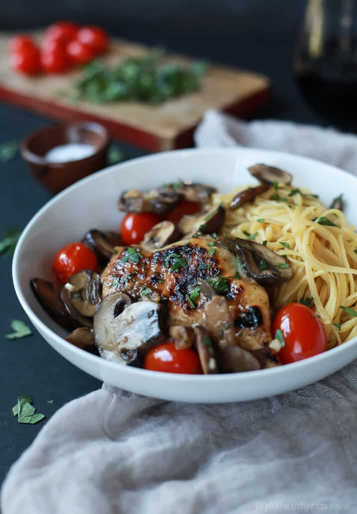 Easy Chicken Marsala With Blistered Tomatoes