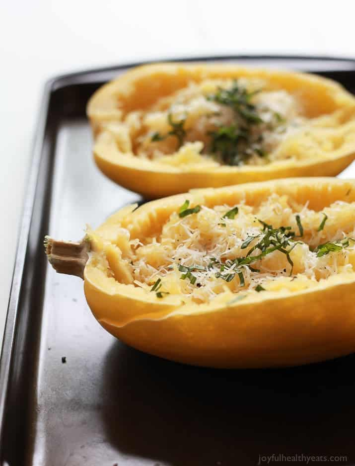 Parmesan herb microwave spaghetti squash holiday recipes a 15 minute way to make spaghetti squash that you will fall in love with forumfinder Gallery