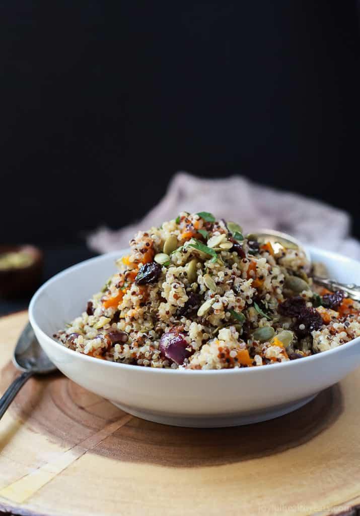 Harvest Roasted Butternut Squash Quinoa Salad-4