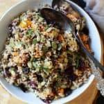 harvest roasted butternut squash quinoa salad