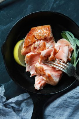 Pan Seared Salmon with Sage Brown Butter Sauce-7